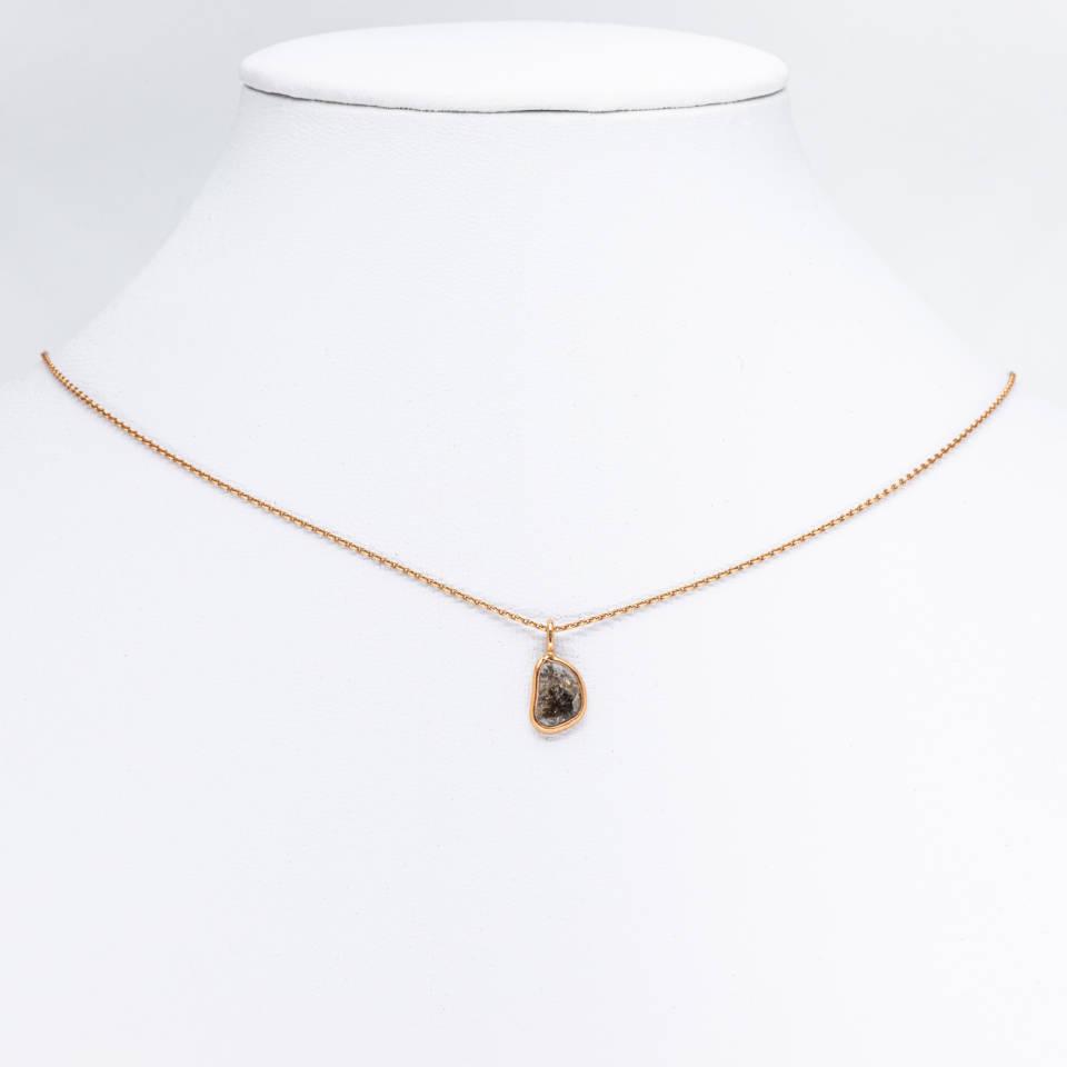 """Diamond-Slice"" necklace"